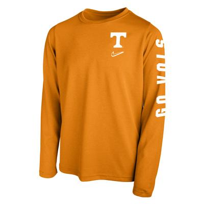 Tennessee Nike YOUTH Go Vols Dri-Fit Long Sleeve Tee