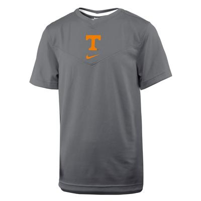 Tennessee Nike YOUTH UV Coaches Dri-Fit Short Sleeve Tee