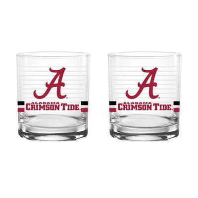 Alabama 14oz Rings Rocks Glass
