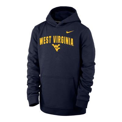 West Virginia Nike YOUTH Club Fleece Hoodie