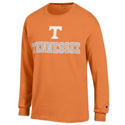 Tennessee Champion Straight Logo Long Sleeve Tee