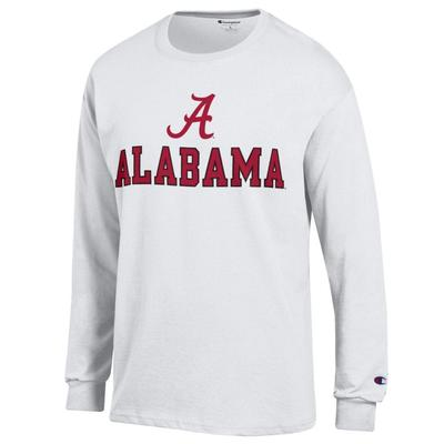 Alabama Champion Straight Logo Long Sleeve Tee