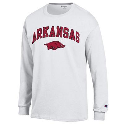 Arkansas Champion Arch Logo Long Sleeve Tee