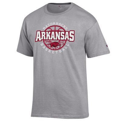 Arkansas Champion Men's Wordmark Basketball Net Tee