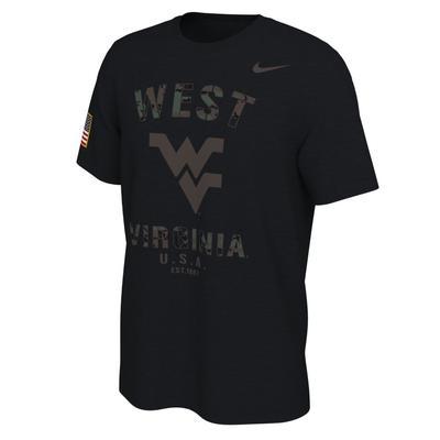 West Virginia Nike 2021 Veterans Day Short Sleeve Tee