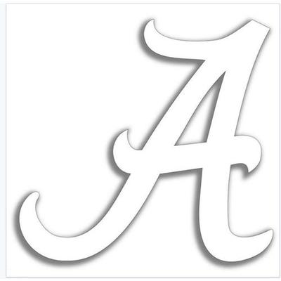 Alabama White Script A Magnet 12