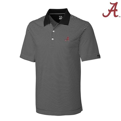 Alabama Cutter And Buck Big And Tall Trevor Stripe Polo