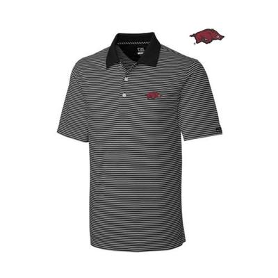 Arkansas Cutter and Buck Big and Tall Trevor Stripe Polo