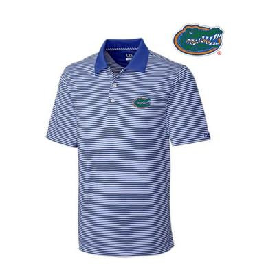 Florida Cutter and Buck Big and Tall Trevor Stripe Polo TOUR_BLUE/WHT