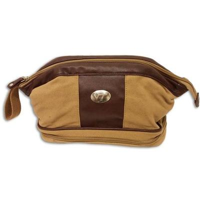 Virginia Tech Waxed Canvas Toiletry Case