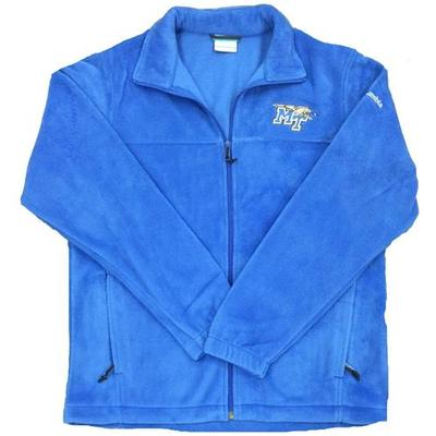 MTSU Columbia Flanker Full Zip Jacket AZUL