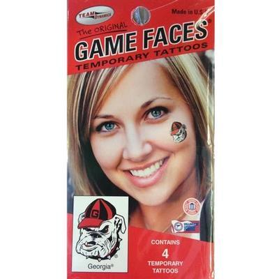 Georgia Bulldog Face Tattoo
