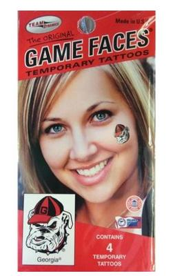 Georgia Bulldog Face Tattoo