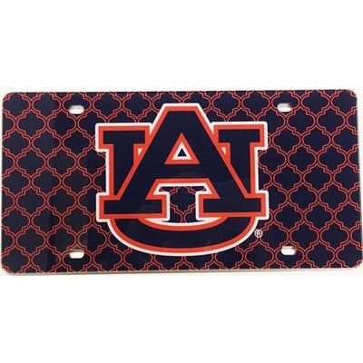 Auburn License Plate Lattice Logo
