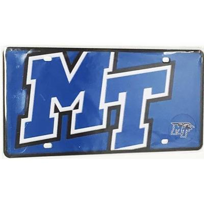 MTSU License Plate Mega Logo