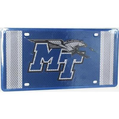 MTSU License Plate Jersey Logo