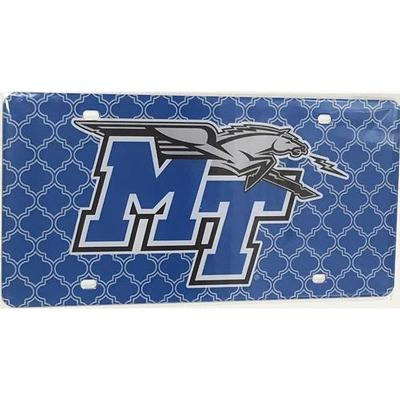 MTSU License Plate Lattice Logo