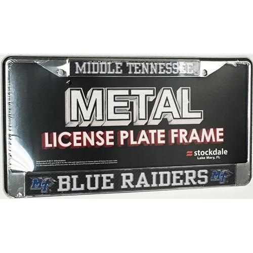 Mtsu License Plate Frame Carbon Logo