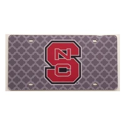 NC State Lattice Pattern License Plate