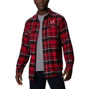 Georgia Columbia Men's Flare Gun Plaid Long Sleeve Shirt