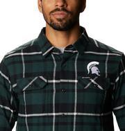 Michigan State Columbia Men's Flare Gun Flannel Plaid Long Sleeve Shirt