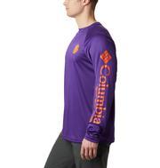 Clemson Columbia Men's Terminal Tackle Long Sleeve Shirt - Big Sizing