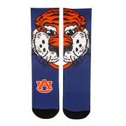 Auburn Rock'em Split Face Mascot Socks