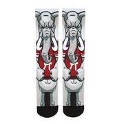 Alabama Rock'em Hyperoptic Mascot Socks