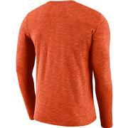 Clemson Nike Dri-Fit Cotton Long Sleeve Slub Logo Tee