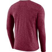 Florida State Nike Dri-Fit Cotton Long Sleeve Slub Logo Tee