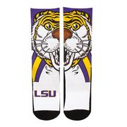 LSU Rock'em Split Face Mascot Socks
