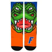 Florida Rock Em Split Face Mascot Crew Socks