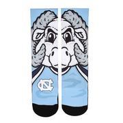 UNC Rock'em Split Face Mascot Socks