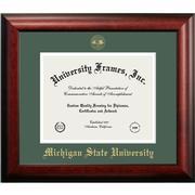 Michigan State Mahogany Diploma Frame